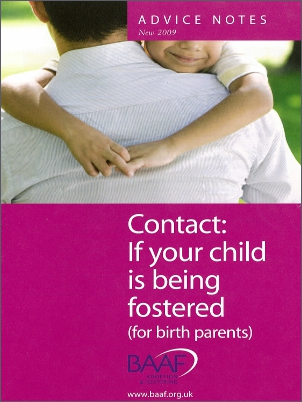 Contact your child is being fostered cover