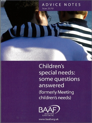 Children's special needs cover