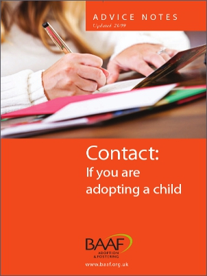 Contact if you are adopting a child cover