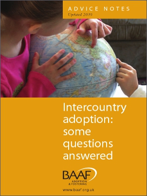 Intercountry adoption cover