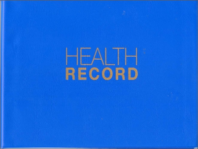 Carer held health record cover