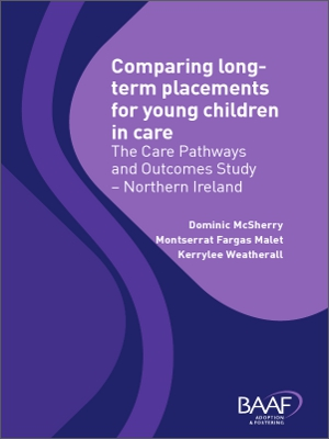 Comparing long term placements for young children in care cover