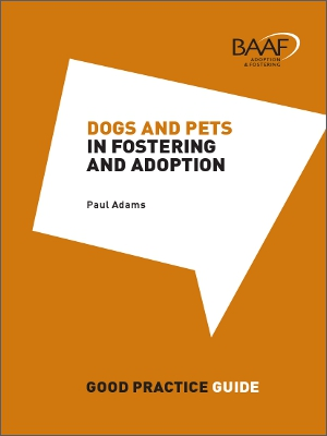Dogs and pets in fostering and adoption cover