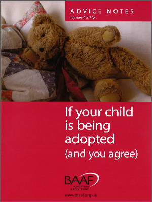 If your child is being adopted (and you agree) cover