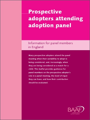 Prospective adopters adoption panel cover