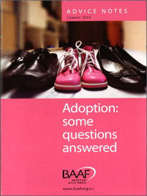 Adoption: some questions answered cover