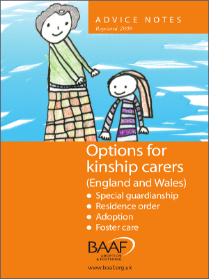 Options for kinship carers (England and Wales) cover