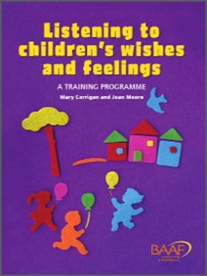 Listening to children's wishes and feelings training cover
