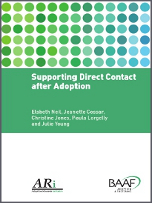 Supporting direct contact after adoption cover