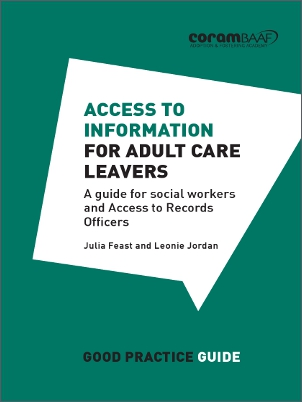 Access to information for adult care leavers