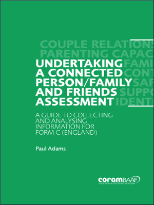 Unertaking a connected person assessment cover