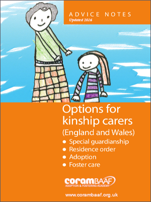 Options for kinship carers (England and Wales) 2016 cover