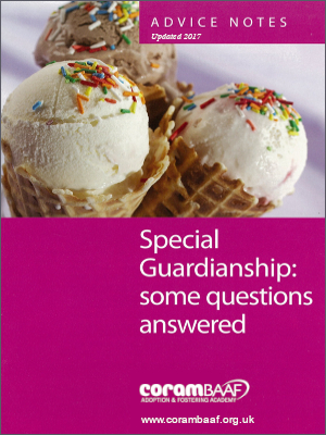 Special guardianship: some questions answered 2017 cover