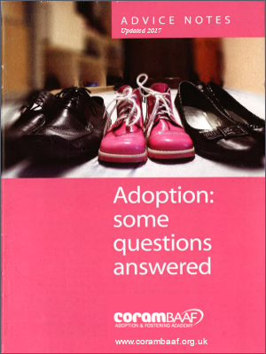Adoption: some questions answered 2017 cover
