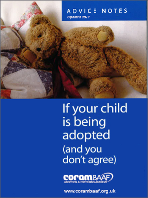 If your child is being adopted (and you don't agree) cover