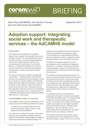 Adoption support cover