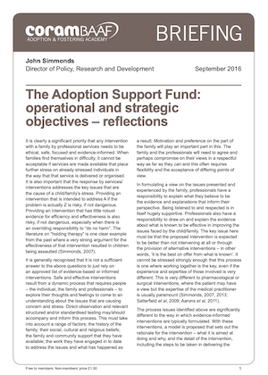 The Adoption Support Fund cover