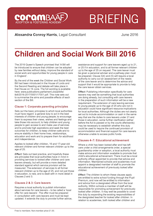 Children and Social Work Bill cover