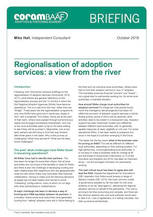 Regionalisation cover