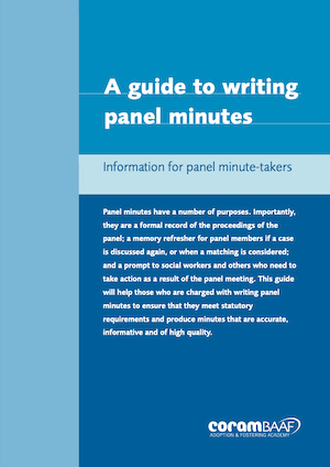 A Guide to Writing Panel Minutes cover