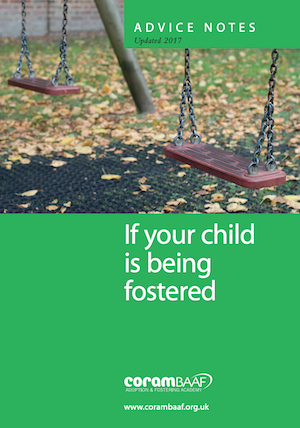 If your child is being fostered cover