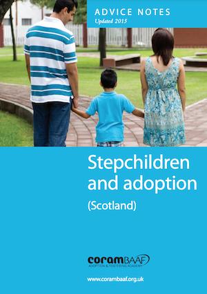 Stepchildren and adoption Scotland cover