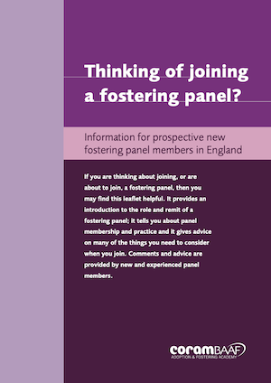 Thinking of joining a fostering panel? cover