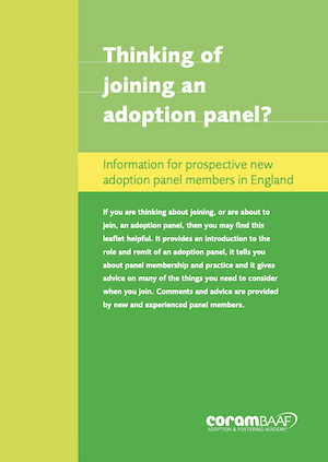 Thinking of joining an adoption panel? cover
