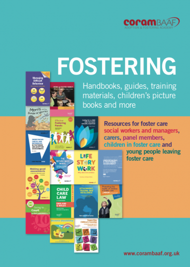 Fostering Catalogue cover