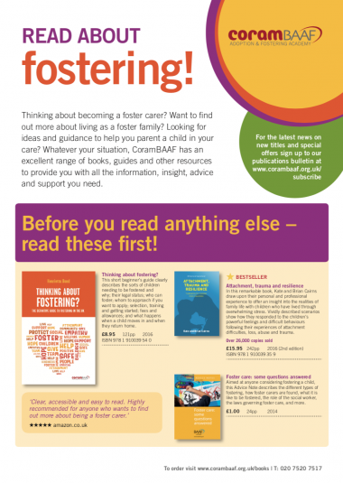 Read about fostering catalogue cover