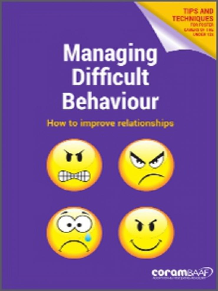 Managing difficult behaviour cover