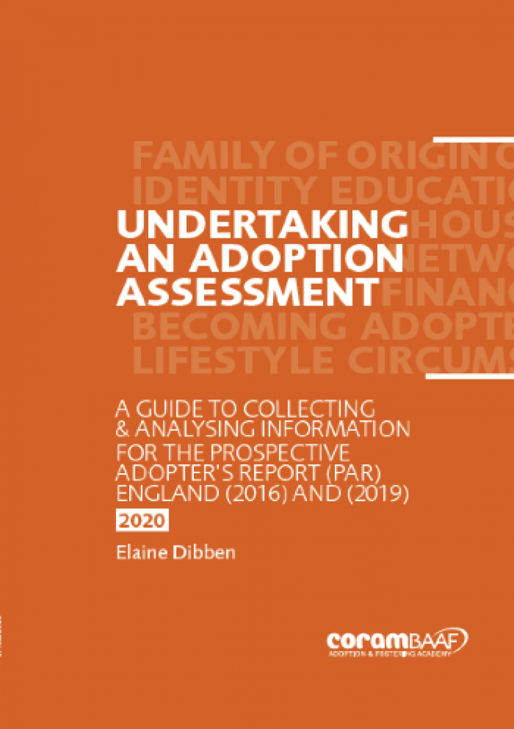 Undertaking an adoption assessment cover