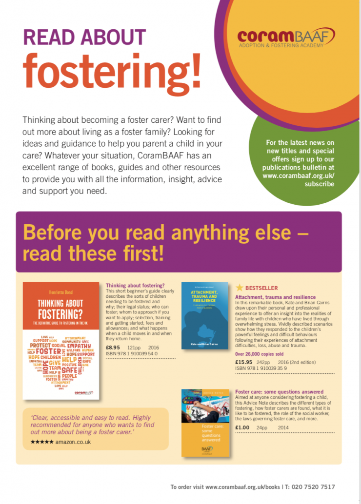 Read about fostering cover